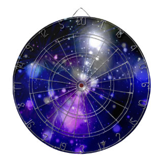 Beautiful galaxy dartboard
