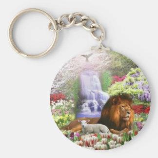 Beautiful Garden Basic Round Button Key Ring