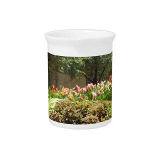 beautiful garden beverage pitcher