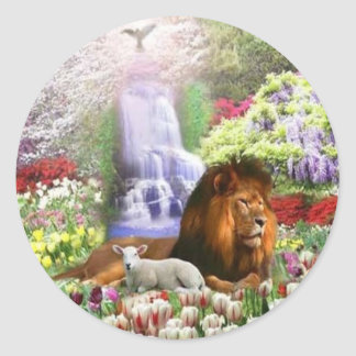 Beautiful Garden Classic Round Sticker