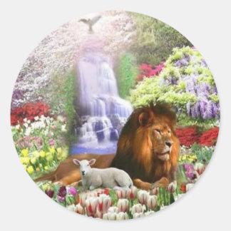 Beautiful Garden Round Sticker