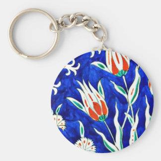 Beautiful garden (tulips) key ring