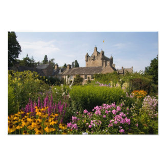 Beautiful gardens and famous castle in photo art