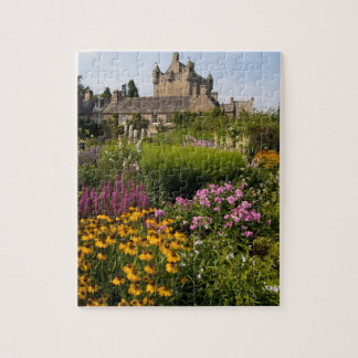 Beautiful gardens and famous castle in Scotland Jigsaw Puzzle
