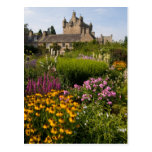Beautiful gardens and famous castle in Scotland Postcard