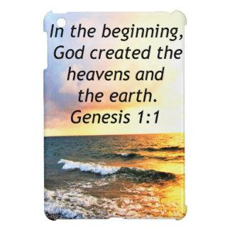 BEAUTIFUL GENESIS 1:1 BIBLE QUOTE DESIGN iPad MINI COVER