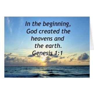 BEAUTIFUL GENESIS 1:1 SUNRISE PHOTO DESIGN CARD