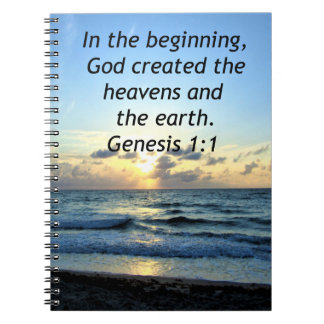 BEAUTIFUL GENESIS 1:1 SUNRISE PHOTO DESIGN NOTEBOOKS