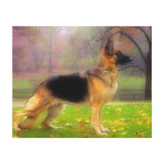 Beautiful German Shepherd Canvas Print
