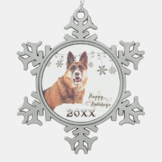 Beautiful German Shepherd Holiday Ornament
