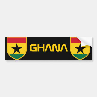 Beautiful Ghana Flag Bumper Sticker