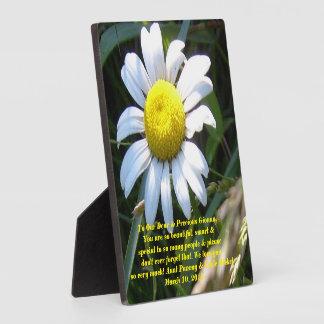 Beautiful Gionna Plaque w/ daisy