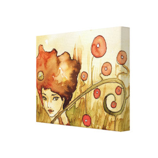 beautiful girl stretched canvas prints