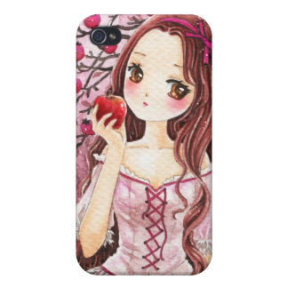 Beautiful girl with apple iPhone 4/4S covers