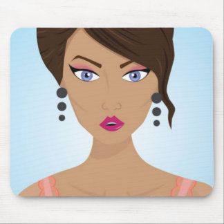 Beautiful girl with pink bra mouse pad