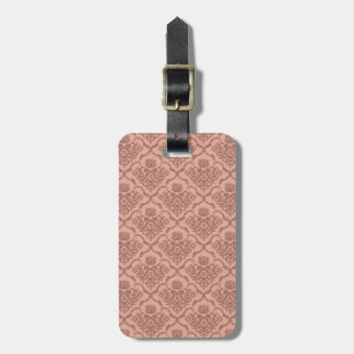 Beautiful girly elegant vintage damask pattern luggage tag
