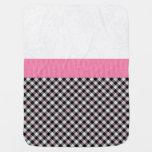 Beautiful Girly Pink Pattern Stroller Blanket