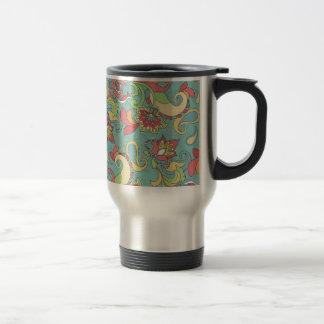 Beautiful girly spring colourful flowers swirls mugs