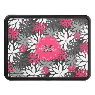 Beautiful girly trendy monogram floral pattern tow hitch cover