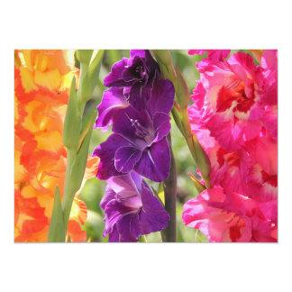 Beautiful Gladiolus Blooms Personalized Invitation