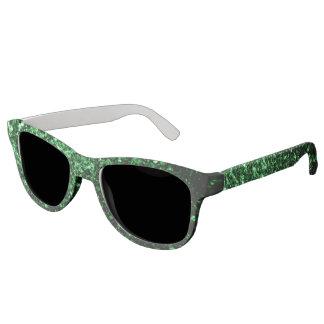 Beautiful Glamour Green glitter sparkles Sunglasses