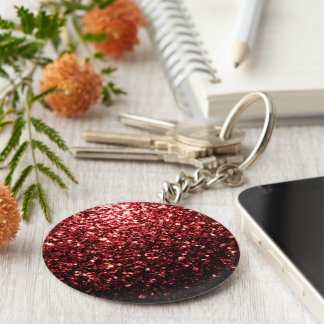 Beautiful Glamour Red Glitter sparkles Key Ring
