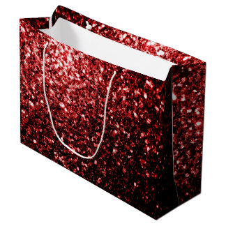 Beautiful Glamour Red Glitter sparkles Large Gift Bag
