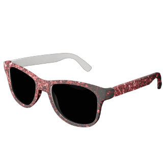 Beautiful Glamour Red Glitter sparkles Sunglasses