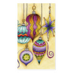 Beautiful Glass Colourful Christmas Ornaments Pack Of Standard Business Cards