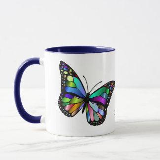 Beautiful Glowing Butterfly Art Mug