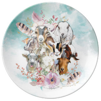 Beautiful GOAT Portrait Collector | by GetYerGoat™ Plate