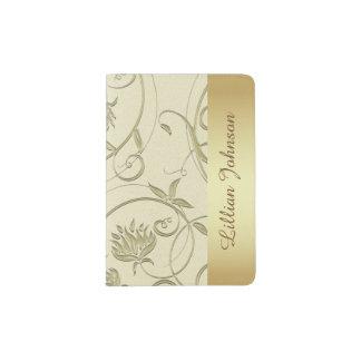 Beautiful Gold and Cream Passport Holder