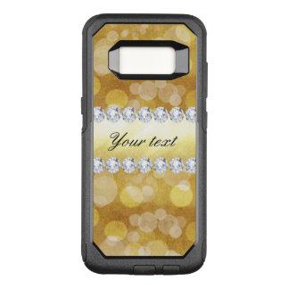 Beautiful Gold Bokeh Foil and Diamonds OtterBox Commuter Samsung Galaxy S8 Case