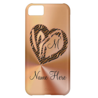 Beautiful Gold Name & Monogrammed iPhone 5C Cases