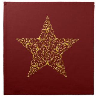 Beautiful Gold Star Napkins