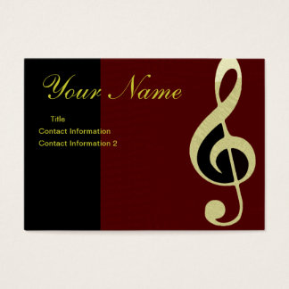Beautiful Gold Treble Clef Business Card