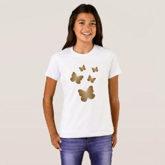 Beautiful Golden Butterflies Art T-Shirt