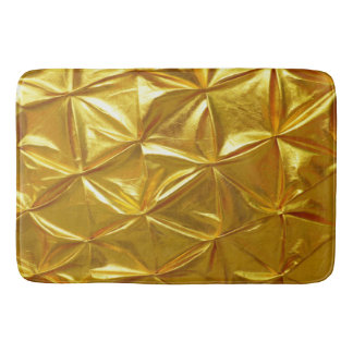 Beautiful Golden Colour Design Bath Mats