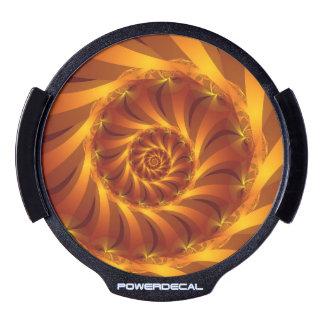 Beautiful Golden Spiral Fractal LED Window Decal