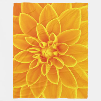 beautiful golden yellow dahlia flower colorful fleece blanket
