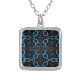 Beautiful Gothic Abstract Design Silver Plated Necklace