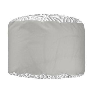Beautiful grade A woven cotton round pouf