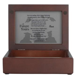 """Beautiful Graduate Poem w/ Customizable Monogram Keepsake Boxes"