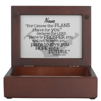 """Beautiful Graduate Verse w/ Customizable Monogram Keepsake Box"