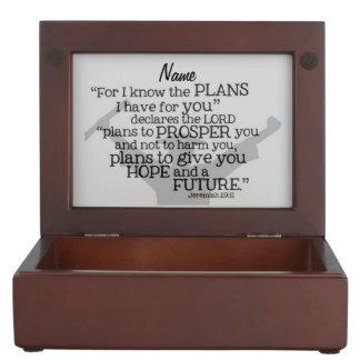 """Beautiful Graduate Verse w/ Customizable Monogram Memory Box"