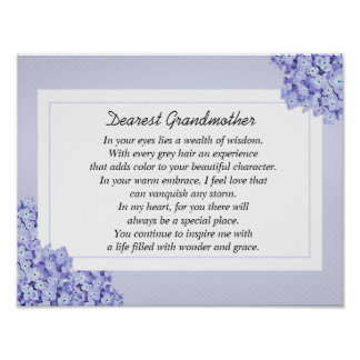 Beautiful Grandmother Poetry Poster