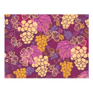 Beautiful Grape Vines Pattern Postcard