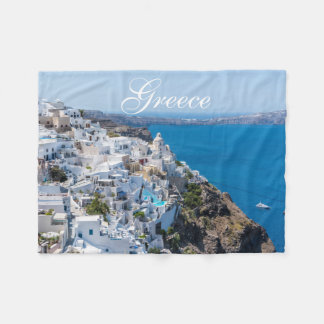 Beautiful Greek Landscape Fleece Blanket