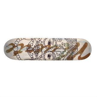 Beautiful green death custom skate board