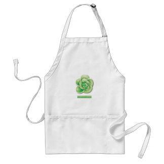 Beautiful green floral design adult apron